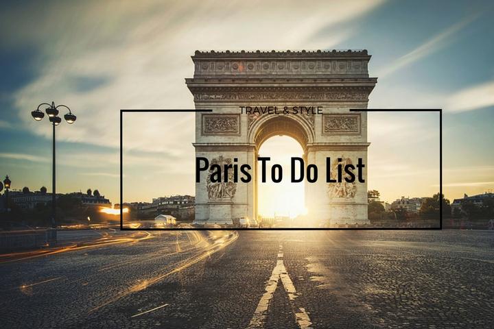 Paris To Do List
