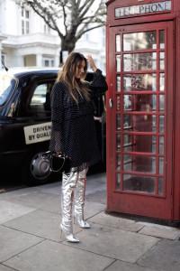 Andreea Cristea. Metallic Boots. Metallic Boots Trend. Andreea Cristea London. AndreeaCristea Celebrity. AndreeaCristeaFashionBlogger. AndreeaCristea