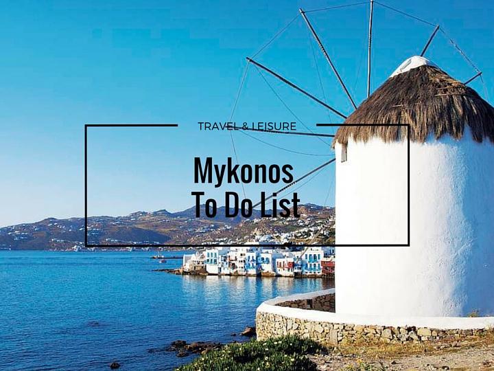 Mykonos To Do List